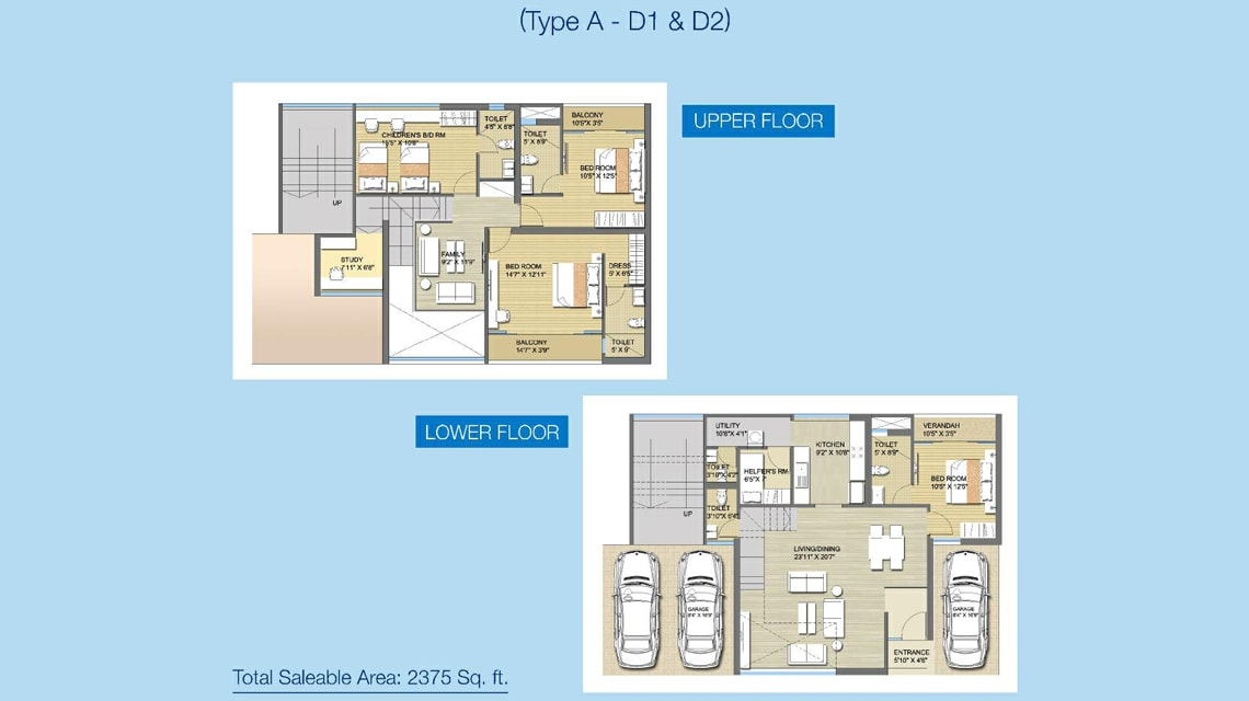 shristinagar asansol townhouse floor plan